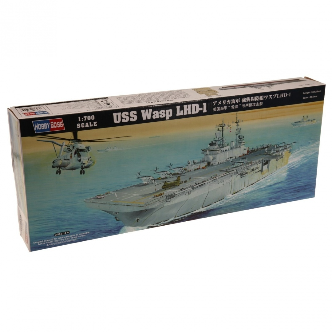 1/700 USS Wasp LHD-1 Amphibious Assault Ship. Free Delivery