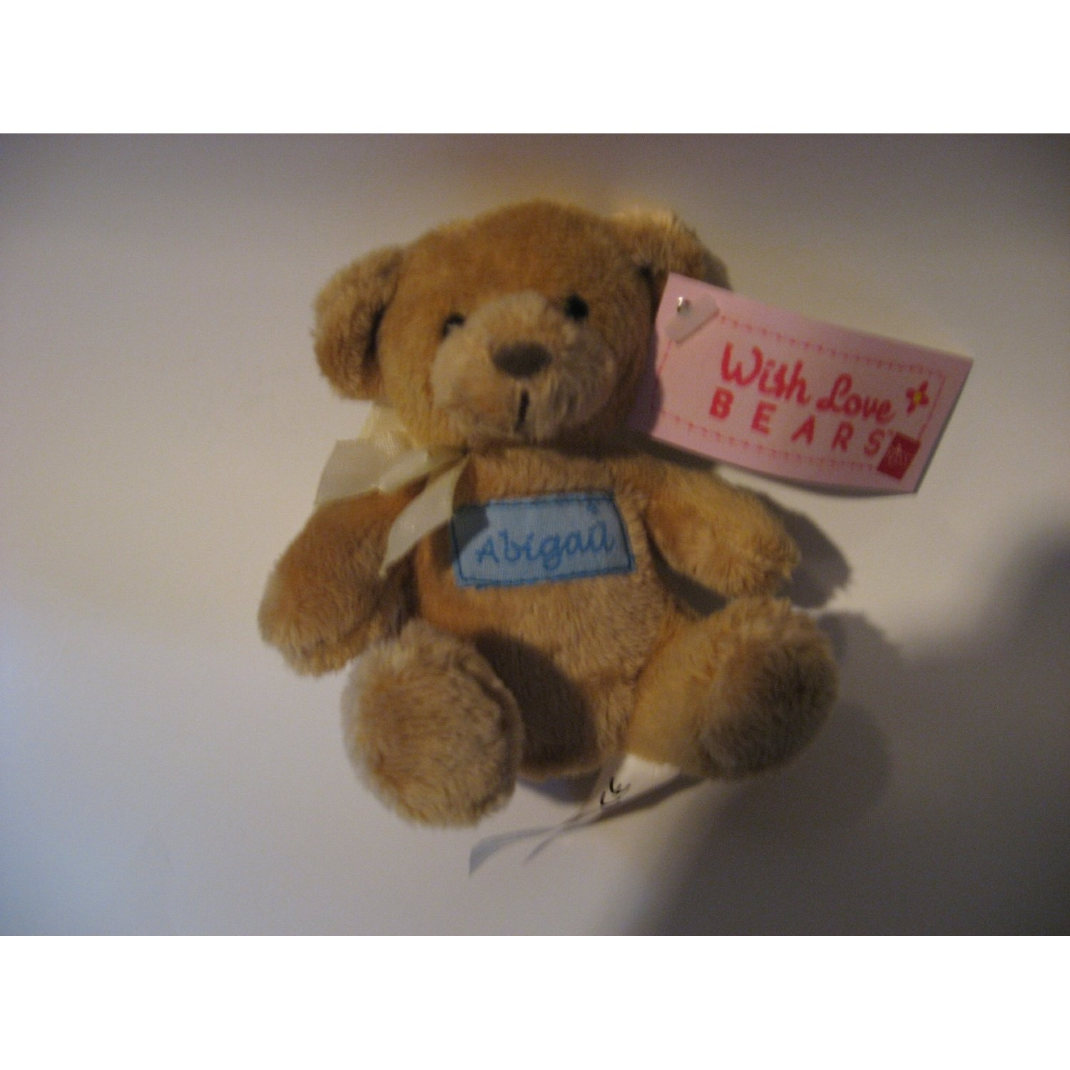With love bears personalised embroidered name abigail