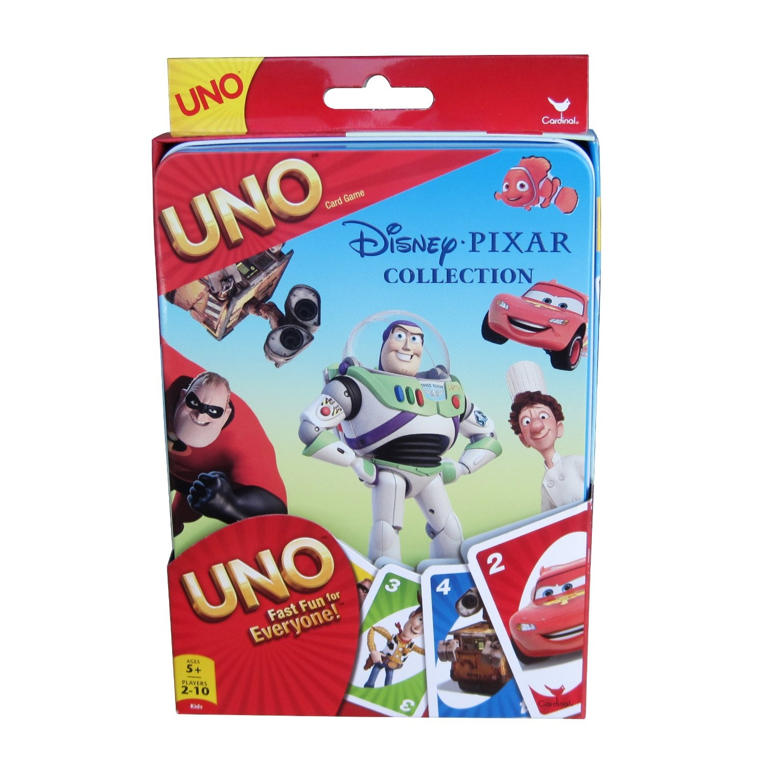 Pixar-Uno-Card-Game-Tin-Shipping-Included