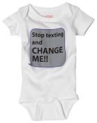 Sara Kety Unisex-baby Newborn Stop Texting Bodysuit
