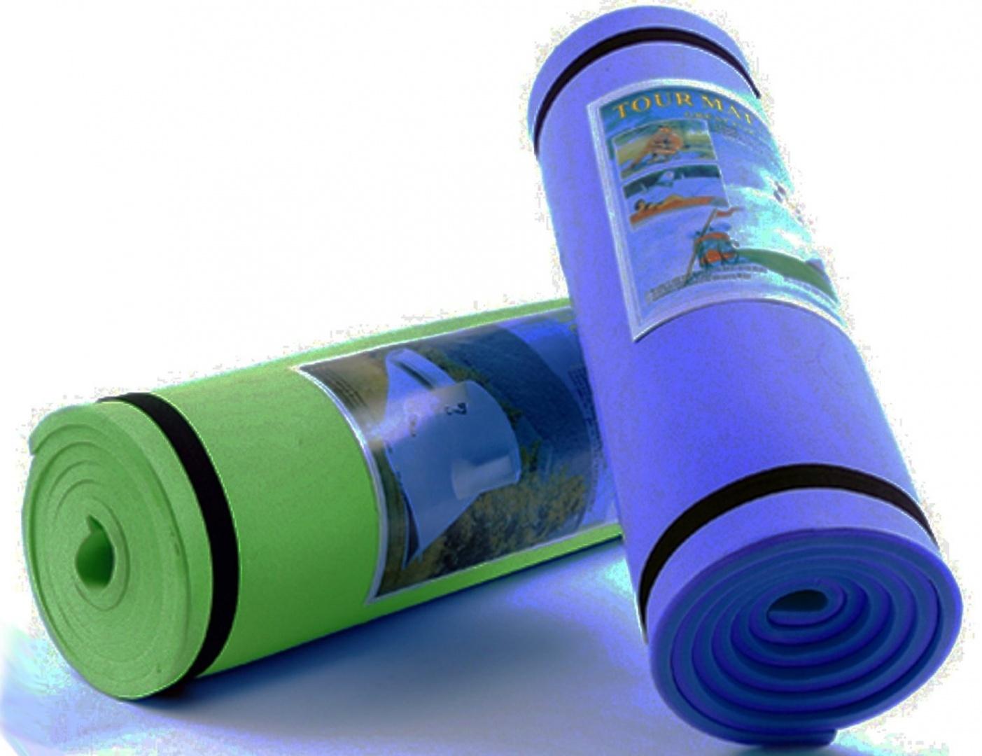 Hight Quality 180 cm 8mm Thick Eva Foam Camping Roll Mat Roll Up Sleeping Mat, P