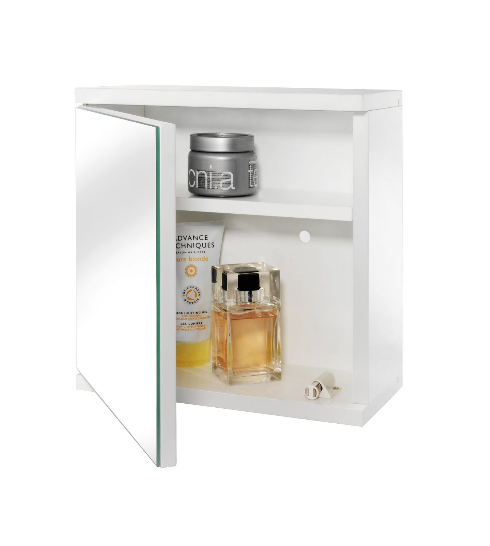 Croydex Simplicity Self Assembly 1 Door Mirror Cabinet Fsc