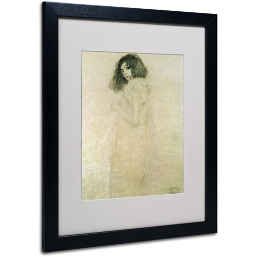Trademark-Fine-Art-039-Portrait-of-a-Young-Woman-1896-30m-Matted-Framed-Art-by-Gus