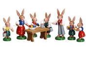Cute Miniature of Bunny Family Gathered At Table 7.6cm