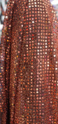 SMALL DOT CONFETTI SEQUIN FABRIC 110cm WIDE SOLD BY THE YARD RUST