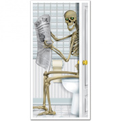 Skeleton Restroom Door Cover Party Accessory (1 count)