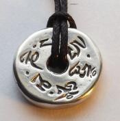 Prayer Wheel - Pewter Pendant - Tibetan Buddhist Chant Jewellery, Meditation Necklace