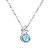 Annaleece March Birthstone Necklace. Elements DeVries Hypoallergenic Nickel-Free ESS10AQ-ANNA
