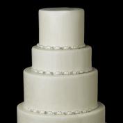 Silver Clear Floral Rhinestone Satin Ribbon Wedding Cake Decorators