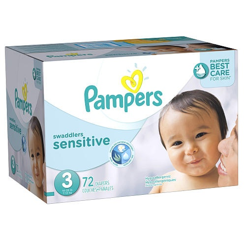Pampers Swaddlers Size 3 Sensitive Nappies Super Pack 72