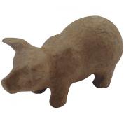 Paper Mache Figurine 11cm -Pig