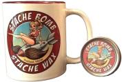 Stache Bomb Stache Wax and Shaving Mug Combo Pack