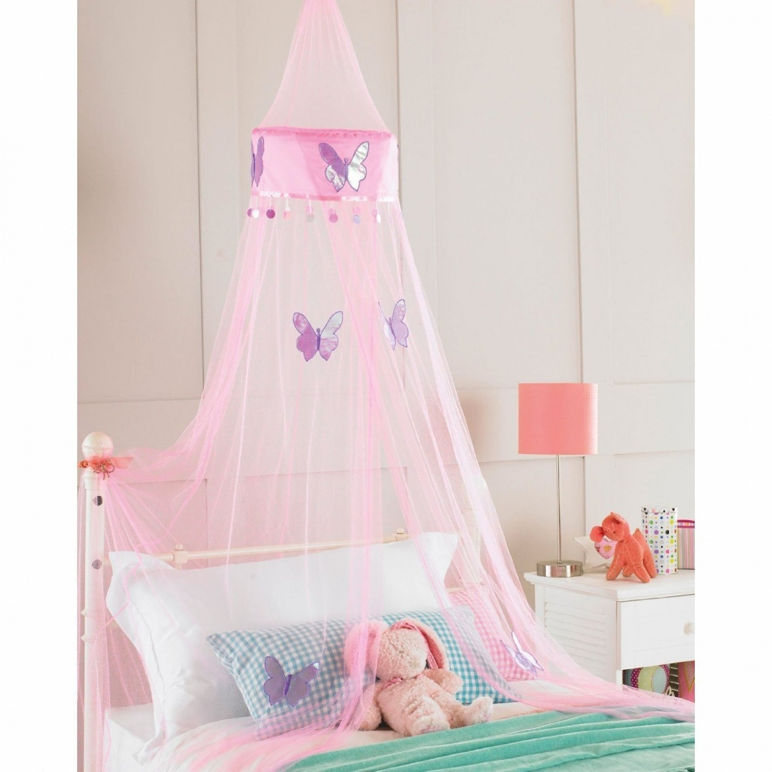 Childrens Girls Bed Canopy Mosquito Fly Netting Net 30x230cm Pink Butterfly 11street