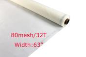 80 Mesh/32T x 160cm Width Silk Screen Printing Mesh Fabric