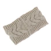 FUNOC Women Crochet Flower Knit Knitted Headband Headwrap Ear Warmer Hair Band