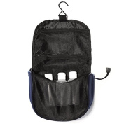 Toiletry Bag with hanging hook. Includes 3 TSA bottles.
