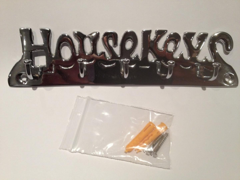 Chrome Plated Solid Brass House Keys Key Hook 5 Hooks