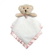 Baby Dumpling Heaven Sent Plush Snuggle Bear Blankie, Girl's, Pink