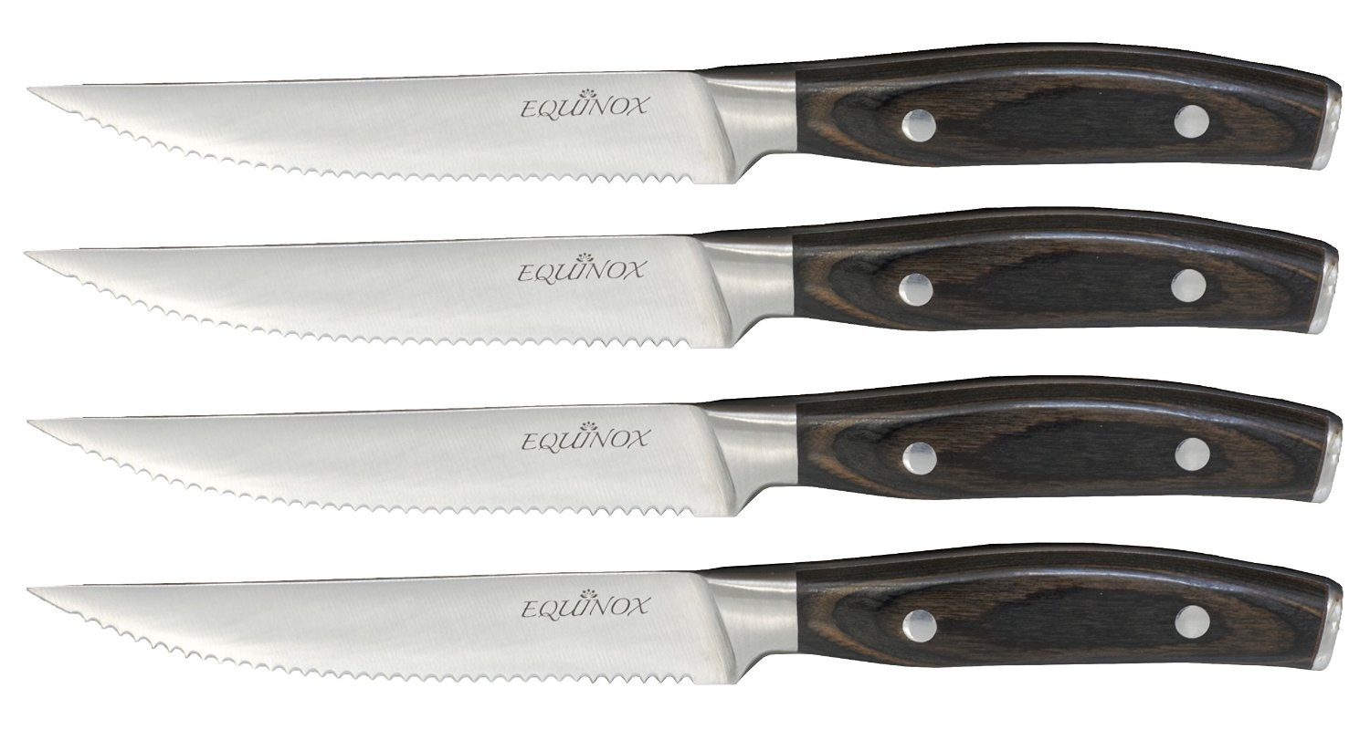 equinox 16 piece steak knife set serrated edge steak knives dark equinox 16 piece steak knife set serrated edge