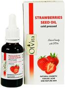 Strawberries Seed Oil, Raw, Cosmetic, Cold Pressed, Unrefined, Ol'Vita 30 ml