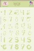 Fairytale Creations Kid's Life Number Alphabet Stencil, 20cm - 1.3cm L x 28cm H