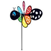 Gardener's Select Black Bee Pin Wheel, 28cm by 41cm