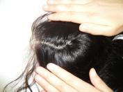 High quanlity silk bace lace closure 41cm indian Hair 100% Remy Human Hair straight natural colour