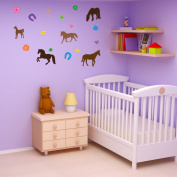 Style and Apply Colourful Horse Wall Decal Set