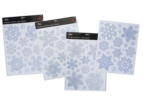 Christmas-Silver-and-Blue-Glittery-Snowflake-Window-Stickers-PM14-Free-Shippi