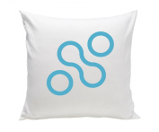 Spot On Square Join Organic Cotton Twill Pillow, Blue