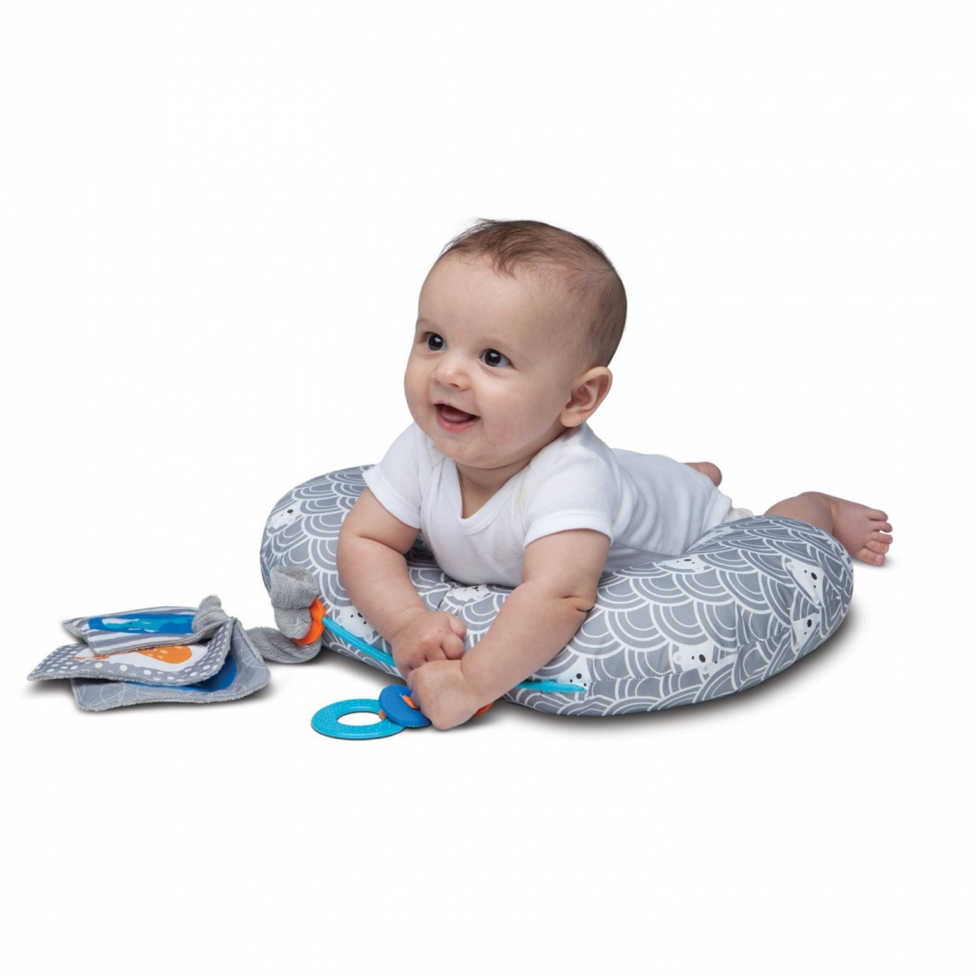 Boppy Tummy Time Play Mat Sea Explorers Grey Brand New