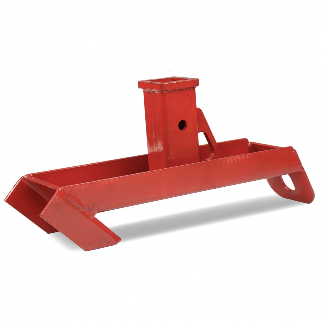 Trailer hitch receiver skid steer quick attach towing