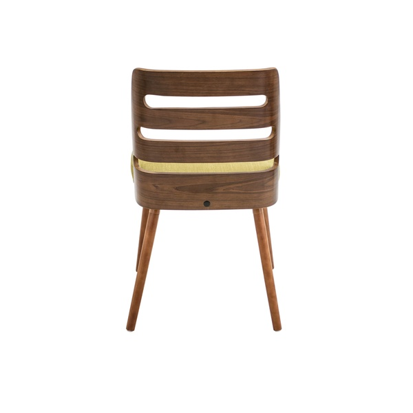 about trevi mid century modern walnut wood accent chair brand new