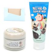 BUNDLE - Elizavecca Milky Piggy Carbonated Bubble Clay Mask + Elizavecca milkypiggy Hell-Pore Clean Up nose Mask, liquid type nose pack + KBeautyBundle Premium Natural Hemp Paper