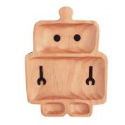 Petits Et Maman Kids' Wood Plate, Robot