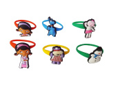 AVIRGO 6 pcs Colourful Releasable Ponytail Holder Elastic Rubber Stretchable No-slip Hair Tie Set # 112 - 7