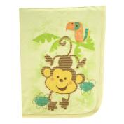 Clever Birds Baby Blanket, Monkey, 80cm x 100cm