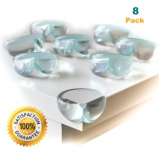 Clear Corner Guards for Child Safety, Baby and Kids Clear Furniture Corner protectors - 8pcs
