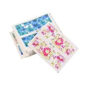 Warm Girl 50PCS DIY Nail Art Sticker Decal Flower Water Transfer Nail-wrapsTip Decors Manicure
