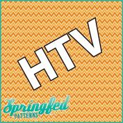 ORANGE CHEVRON PATTERN #3 HTV Heat Transfer Vinyl 30cm x 36cm Chevron Stripes for Shirts