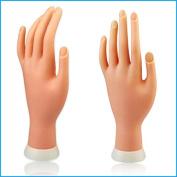 Constructan(TM) 1Pcs Flexible Soft Plastic Flectional Mannequin Model Fake Hand for Nail Art Practise Display Tool