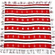 Bambino Land Satin Trim 2-Layer Snuggle Blanket - Red & Black Pirate