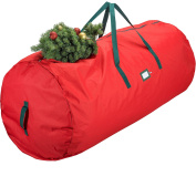 Zober Premium Christmas Tree Bag - Artificial Christmas Tree Storage for Trees up to 9' Tall - Also Accommodates Holiday Inflatables | 60 x 30 x 30 | Red