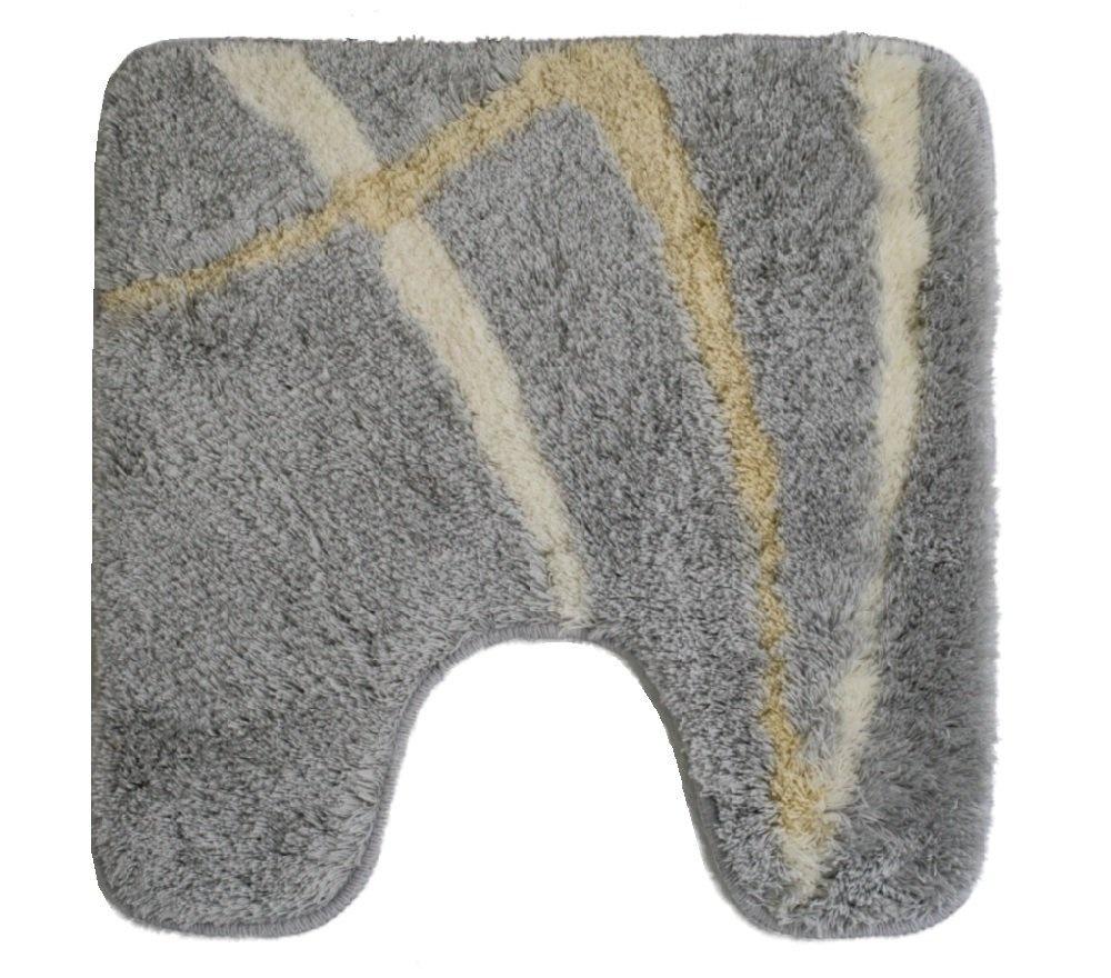 Spirella Motion Manhattan Grey Yellow White Bath Mat Bath Rug With Cut Out 22