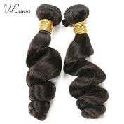 V-Emma Brazilian Loose Wave Virgin Hair 2 Bundles Unprocessed Human Hair Weave Natural Black 70cm 80cm
