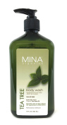Tea Tree Body Wash 530ml (Paraben FREE) with Pump by Mina Organics. Factory Fresh!