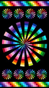 Colorworks Concepts Large Colourful Pin Wheel Panel Northcott Cotton Fabric 21586.99