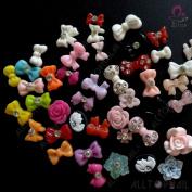 ALLTOP 3D Nail Decoration MIX Resin Nail Art Rhinestons Coulorful 300pcs/lot Flower,Bows,Heart,Rhinestone,Fun Craft