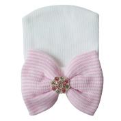 RareLove Newborn Hospital Hat with Stripe Bow Knot For Preemie Baby Girls Boys