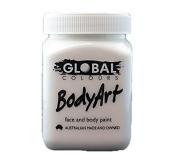 Global Body Art Face Paint - Liquid White 200ml